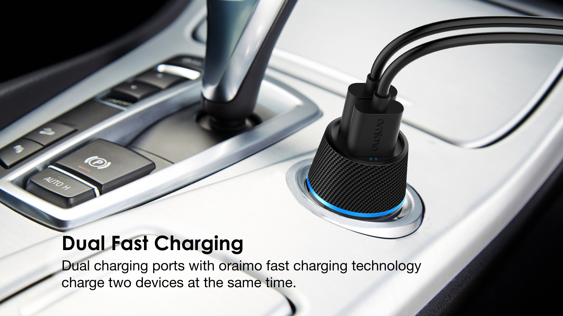 Oraimo Chargeur De Voiture allumecigare 5.0V / 2.1A, Dual USB, Fast Charge, Système Multi-Protection prix maroc